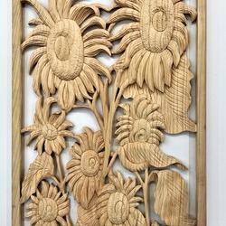 寿司店の扉へ取り付ける彫刻