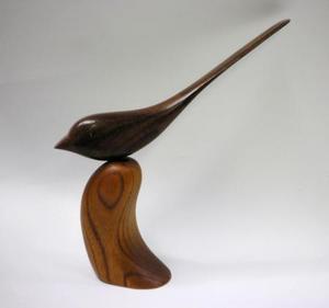 ペーパーナイフ 木彫 (森の調べ)