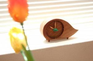 置き時計 木製 アナログ (ムンク)