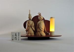 桧手彫りのひな人形(美愁)S